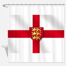 England Three Lions Flag Shower Curtain