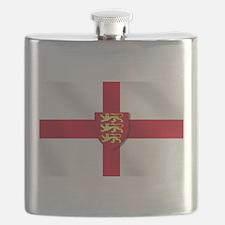 England 3 Lions Flag Flask
