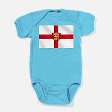 England 3 Lions Flag Baby Bodysuit