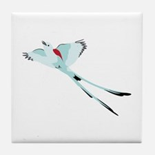 Scissortail Bird Tile Coaster