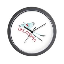 OKLAHOMA Wall Clock