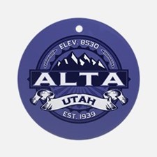 Alta Midnight Ornament (Round)