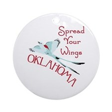 Spread Your Wings OKLAHOMA Ornament (Round)