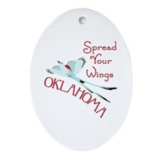 Spread Your Wings OKLAHOMA Ornament (Oval)