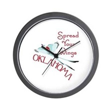 Spread Your Wings OKLAHOMA Wall Clock