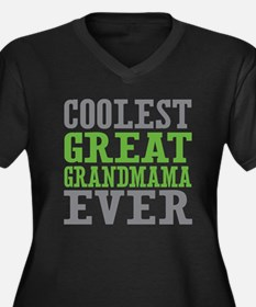 Coolest Great Grandmama Ever Women's Plus Size V-N