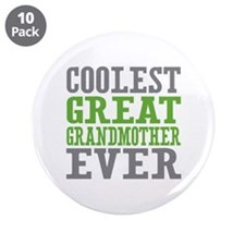 """Coolest Great Grandmother Ever 3.5"""" Button (10 pac"""
