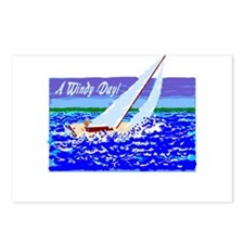 A Windy Day/t-shirt Postcards (Package of 8)