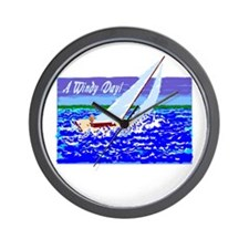 A Windy Day/t-shirt Wall Clock