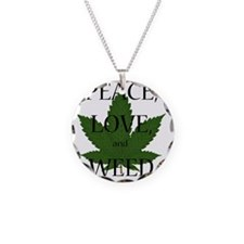 Peace, Love, and Weed Necklace