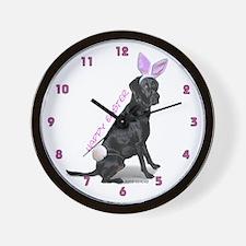 Easter Bunny Labrador Wall Clock