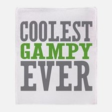 Coolest Gampy Ever Throw Blanket