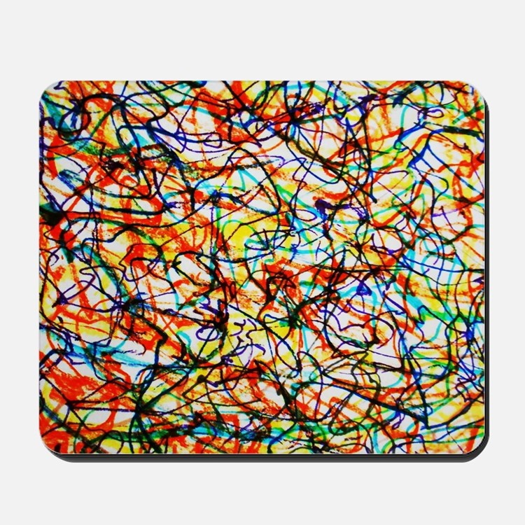 Doodle Squiggle Giggle Color Love Mousepad