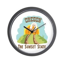 OREGON THE SUNSET STATE Wall Clock