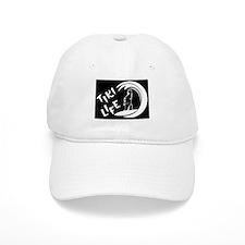 White on Black Tiki Life Logo Baseball Baseball Cap