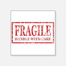 Fragile Rectangle Sticker