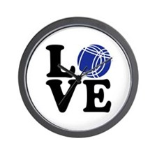 Boule petanque love Wall Clock