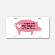 Pig Bacon Aluminum License Plate