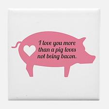 Pig Bacon Tile Coaster