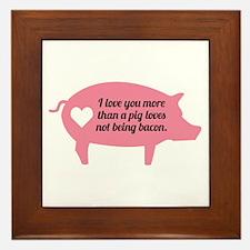 Pig Bacon Framed Tile