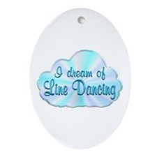 Line Dancing Dreamer Ornament (Oval)