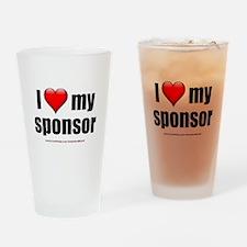 """Love My Sponsor"" Drinking Glass"