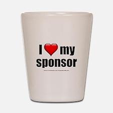 """Love My Sponsor"" Shot Glass"