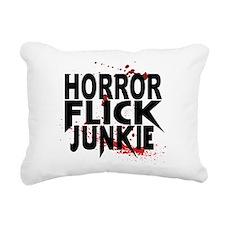 Horror Flick Junkie Rectangular Canvas Pillow