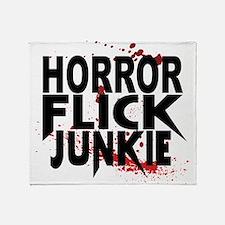 Horror Flick Junkie Throw Blanket