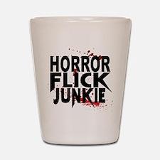 Horror Flick Junkie Shot Glass