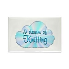 Knitting Dreamer Rectangle Magnet