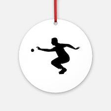 Petanque player Ornament (Round)