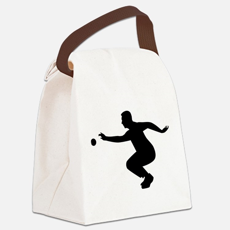 Petanque player Canvas Lunch Bag