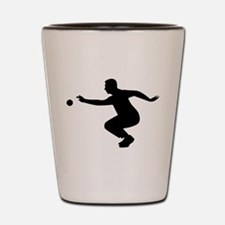 Petanque player Shot Glass