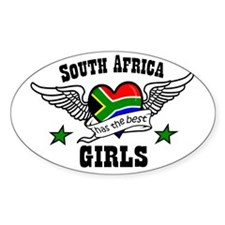 South African girls Oval Decal