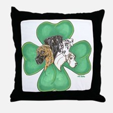 Clover Quartet Throw Pillow