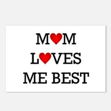 mom loves me best Postcards (Package of 8)