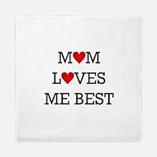 mom loves me best Queen Duvet