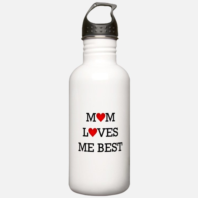 mom loves me best Water Bottle