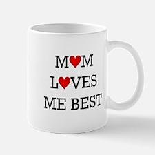 mom loves me best Mugs