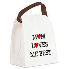 mom loves me best Canvas Lunch Bag