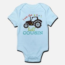 Little Cousin Tractor Infant Bodysuit