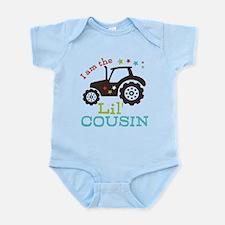 Little Cousin Tractor Infant Bodysuit