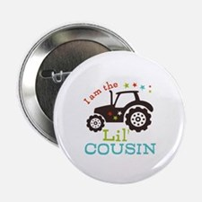 "Little Cousin Tractor 2.25"" Button (10 pack)"