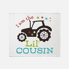 Little Cousin Tractor Throw Blanket