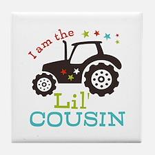 Little Cousin Tractor Tile Coaster