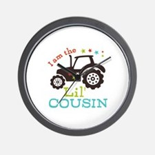Little Cousin Tractor Wall Clock