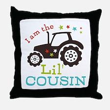 Little Cousin Tractor Throw Pillow