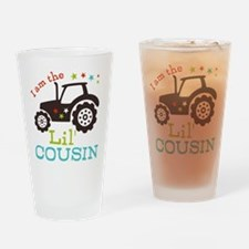Little Cousin Tractor Drinking Glass