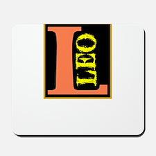 Leo-Letter Astro Sign Mousepad